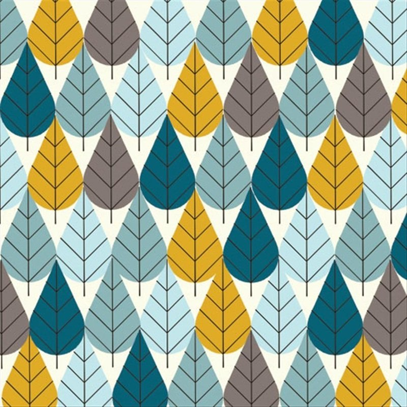 Out of Print! Charley Harper Octoberama Leaves Trees Mid Century Modern Charles Harper Certified Organic Canvas Cotton Fabric CHB05X