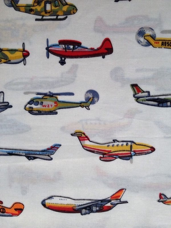 Airplanes Helicopters Planes Jets Aircrafts Cotton Fabric Quilt Fabric MD01