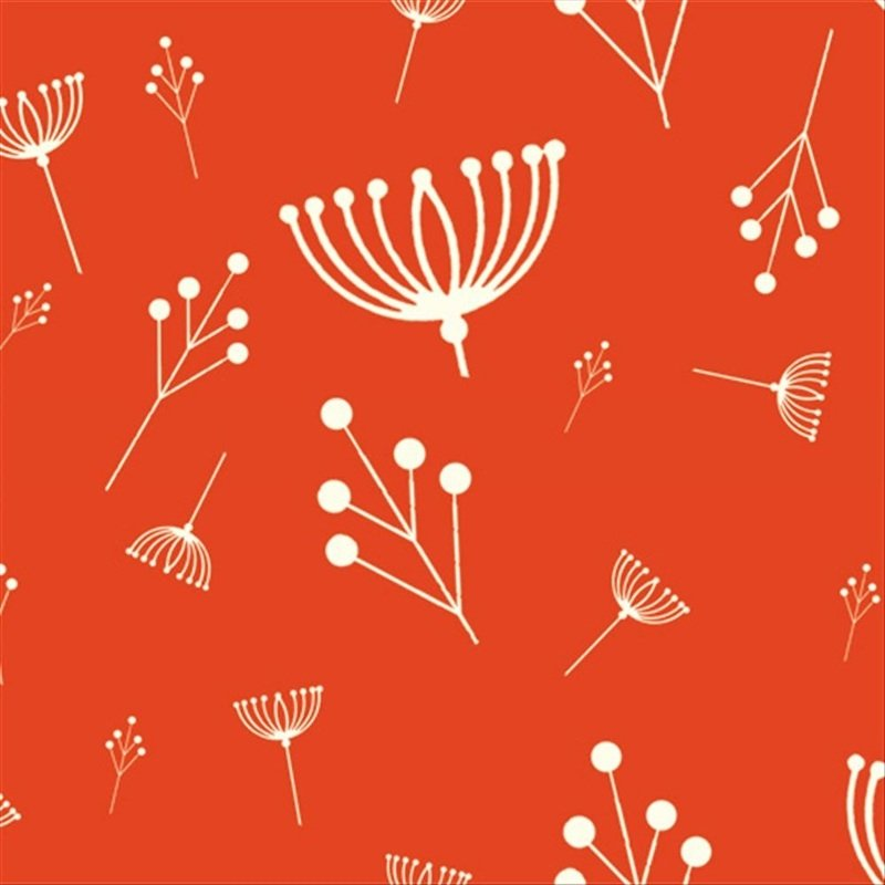 Charley Harper Flower Seed Organic Cotton Fabric Quilt Fabric Charles CHB17