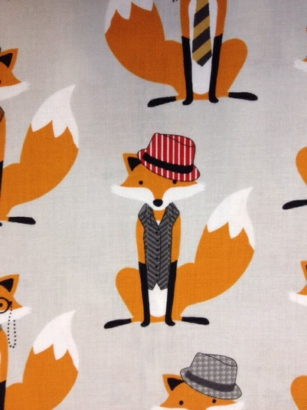 Fox And The Houndstooth Little Gentlemen Foxes Cotton Fabric Quilt Fabric  RK05