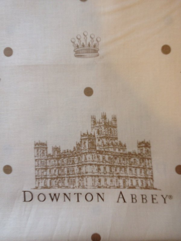Downton Abbey Masterpiece Classic Season 4 Cotton Fabric Quilt Fabric AN06