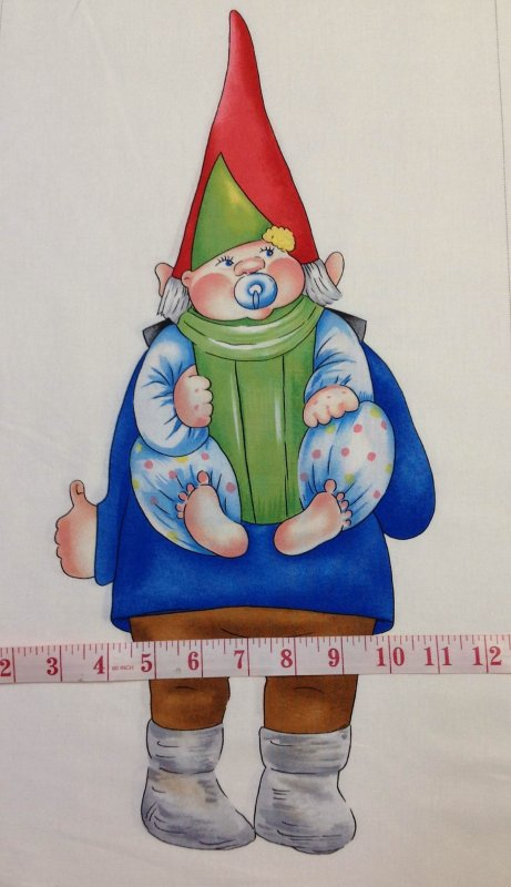 Gnomes Large and Small Baby Gnome Panel Scandinavian Gnomeo Cotton fabric Quilt fabric P125