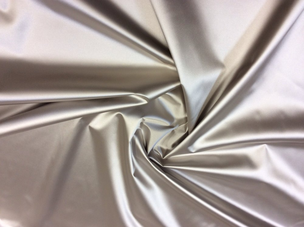 Platinum Sateen Vinyl Fabric Backed For Upholstery Home Decor Silver Fabric  OR100