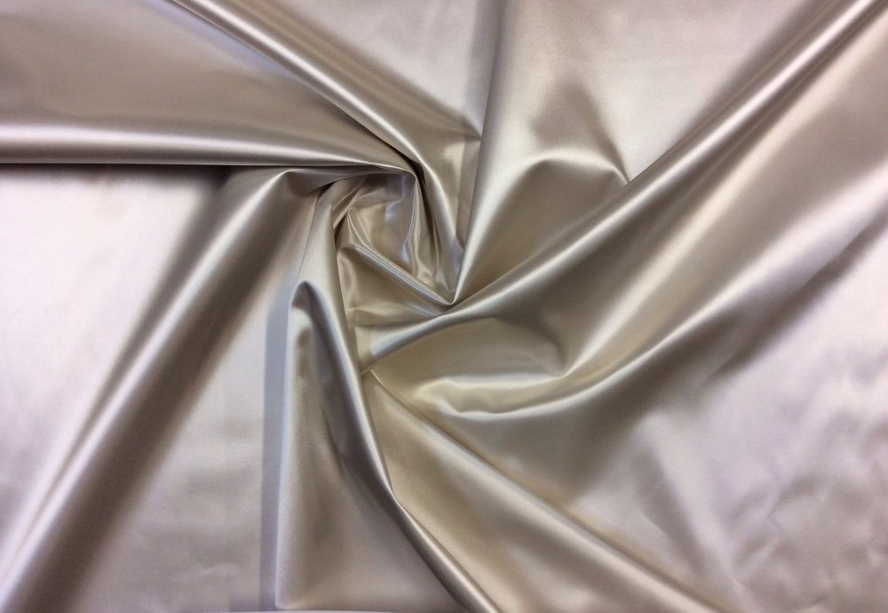 Crystal Ivory Satin Vinyl Backed  AWESOME Fabric Backed For Upholstery Wallpaper Decor Blackout Lining OR101