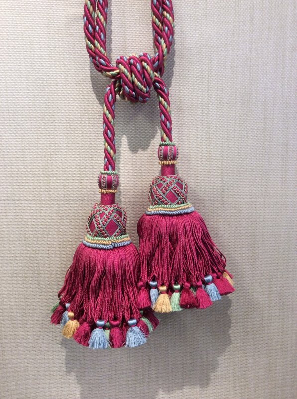 DeClercq Clarence House Embrasse Passimenterie Tassel Handmade in Paris France Palais d'Hiver Silk Double Tassel Tieback CHDC209