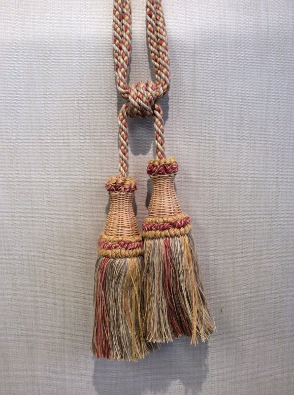 DeClercq Clarence House Cyrano Embrasse Tassel Handmade in Paris France Wicker & Cotton Double Tassel Tieback CHDC2005