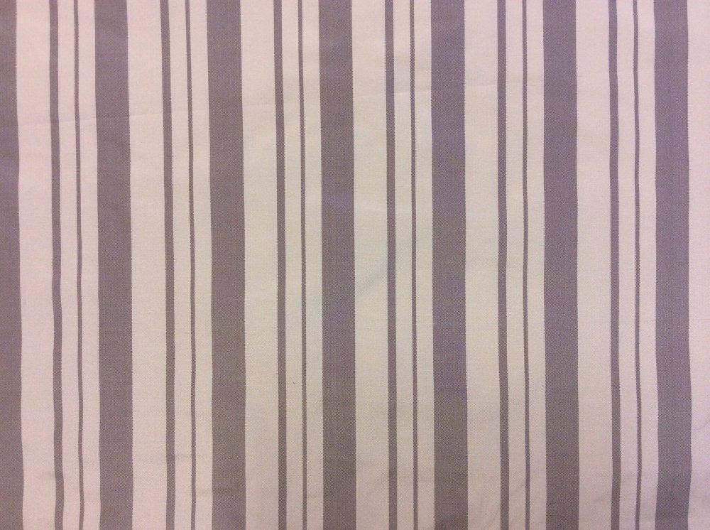 HD35 Sheffield Platinum Stripe Taffeta Upholstery SILK Fabric Striped Drapery Fabric