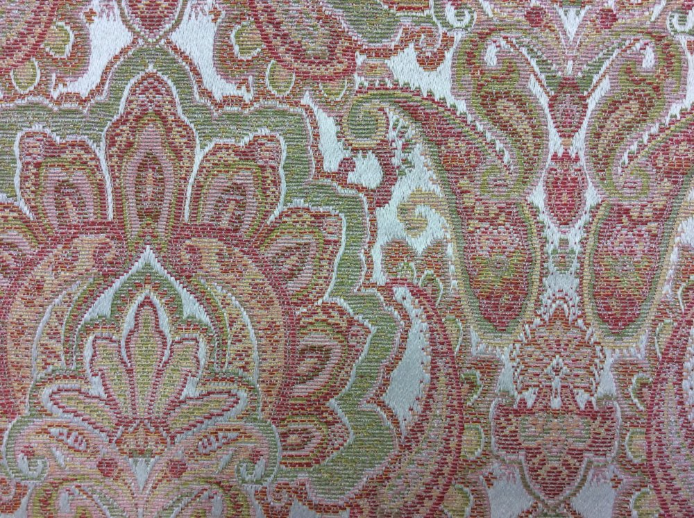 HD681 Floral Paisley Jacquard Cotton Fabric Tapestry Weave