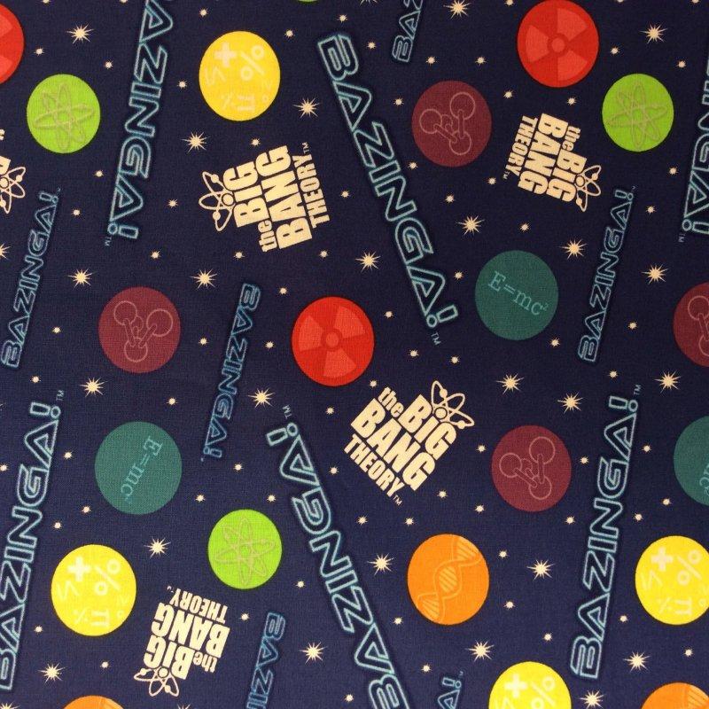 Fat Quarter! MATH The Big Bang Theory Bazinga! TV Show Sheldon Quilt Cotton Quilting Fabric FQMD55