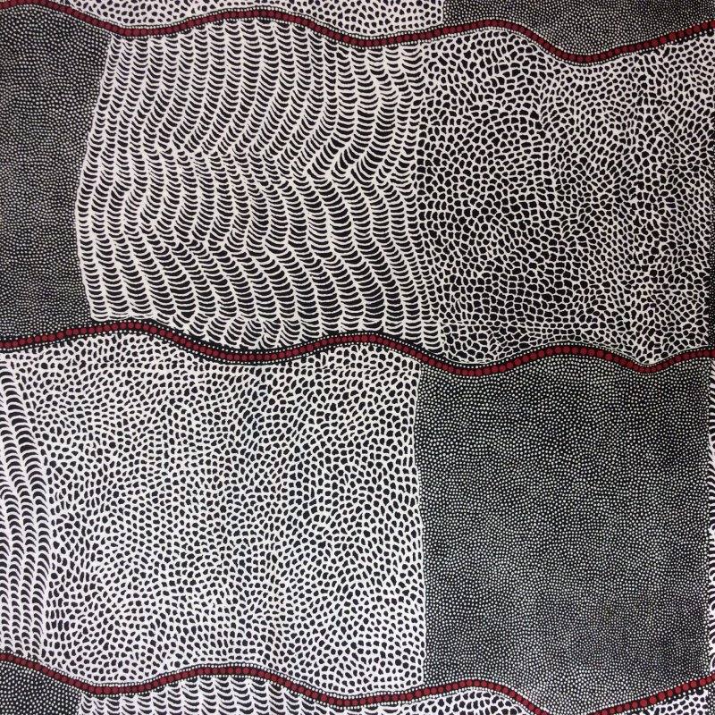 Australian Aborigine Bush Onion Dreaming Quilt Cotton Quilting Fabric AU14