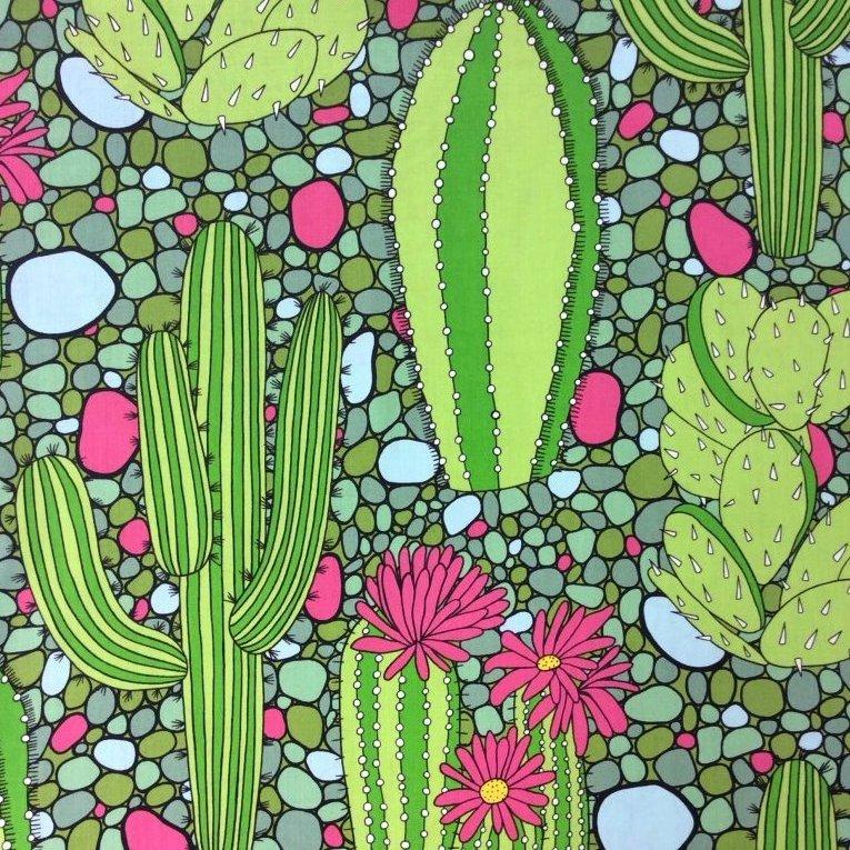 Cactus Flowering Desert Cactus Western Cacti Quilt Cotton Quilting
