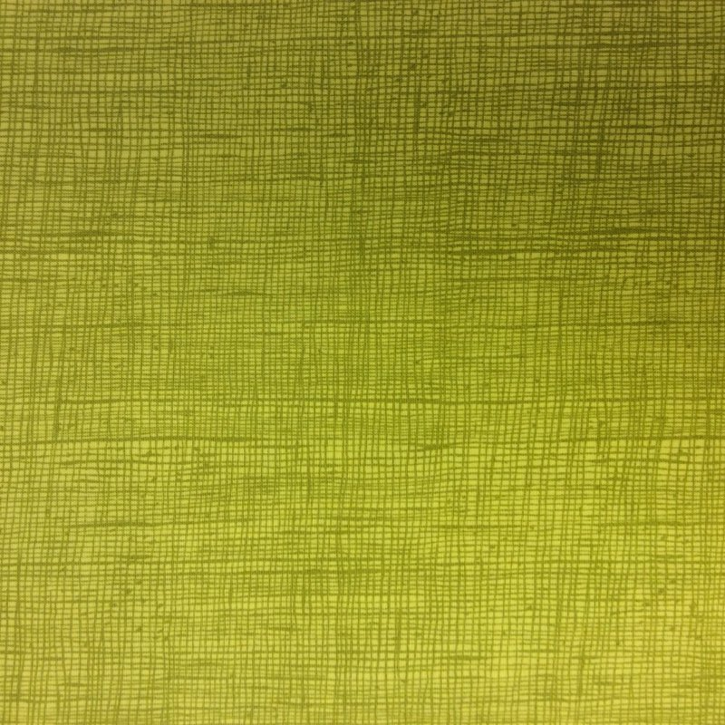 Crosshatch Blender Lime Green Citrine Contemporary Crosshatch Quilt Cotton Quilting Fabric AH141