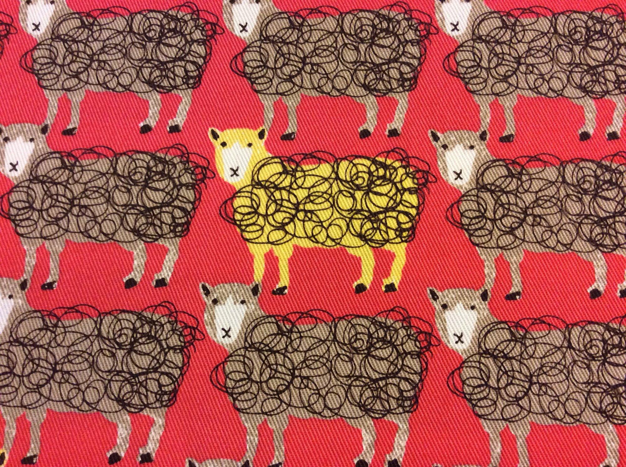 Si02 Echino Kokka Sheep Canvas Japan Asia Patchwork Cotton