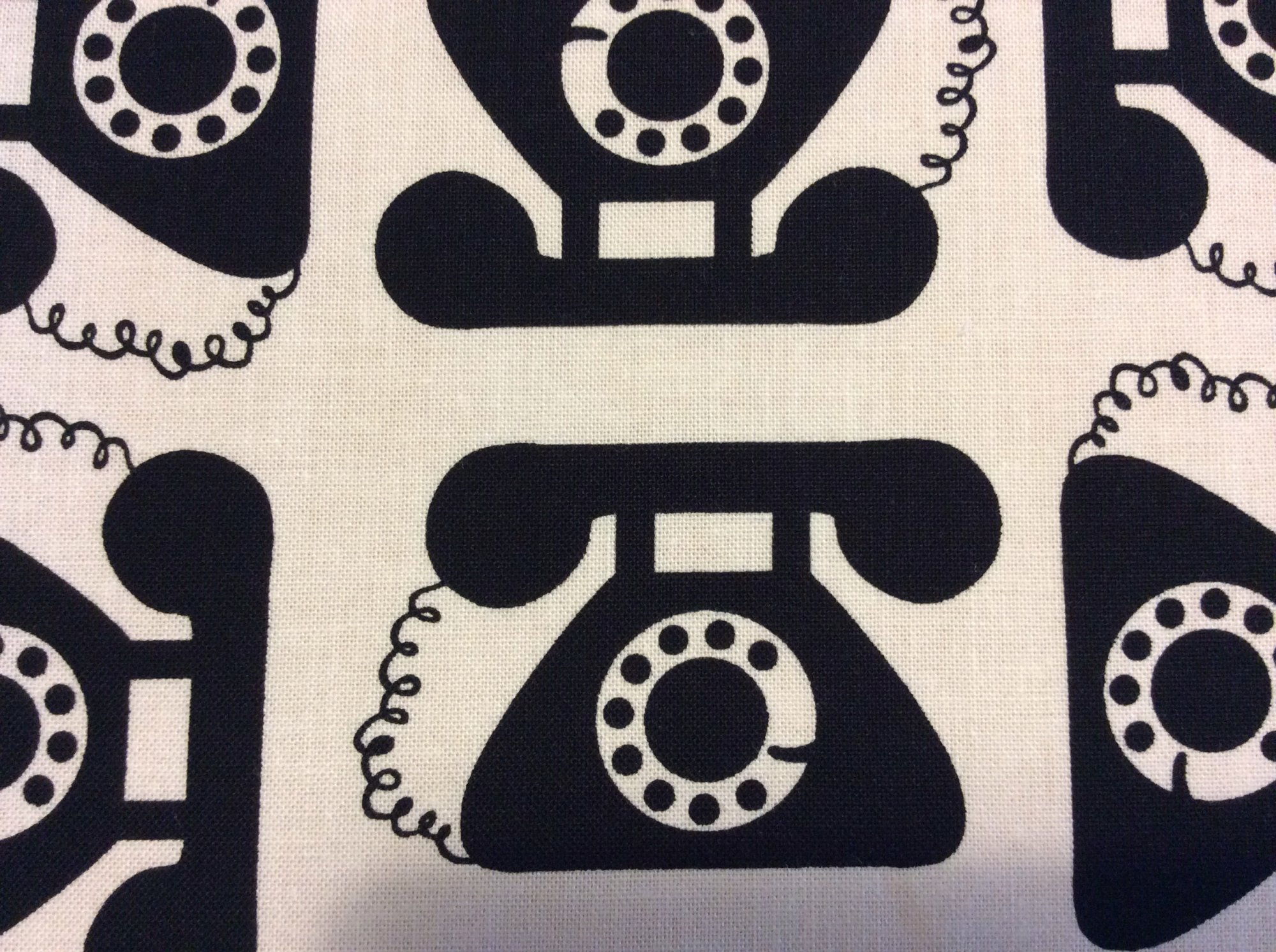 RK105 Ring Ring Dial Telephone Retro Ma Bell Phone Cotton Quilting Fabric