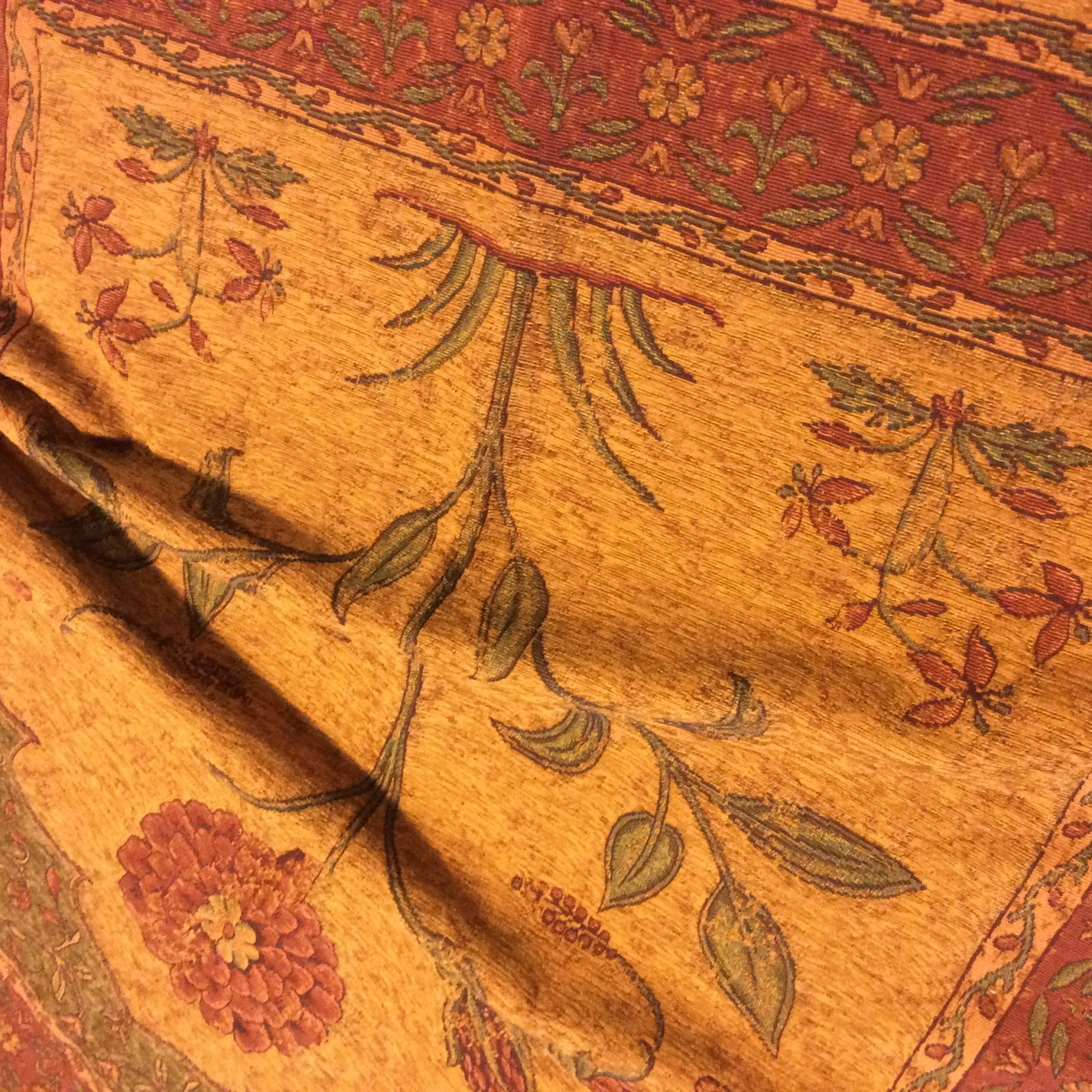 Vintage Floral Persian Tapestry