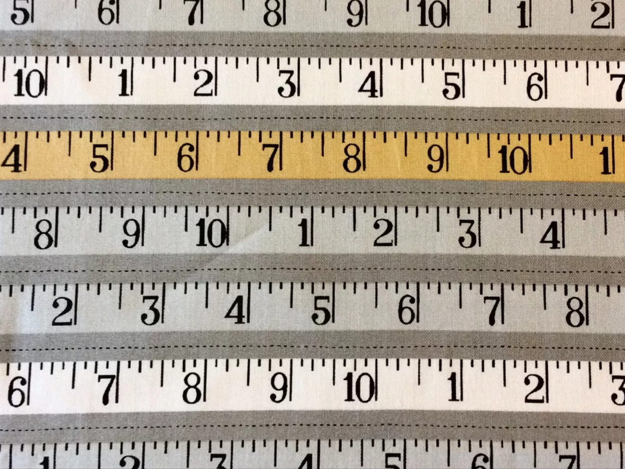 MD312 Metric Rulers Math School Yard Stick Numbers Sewing Cotton Quilt Fabric