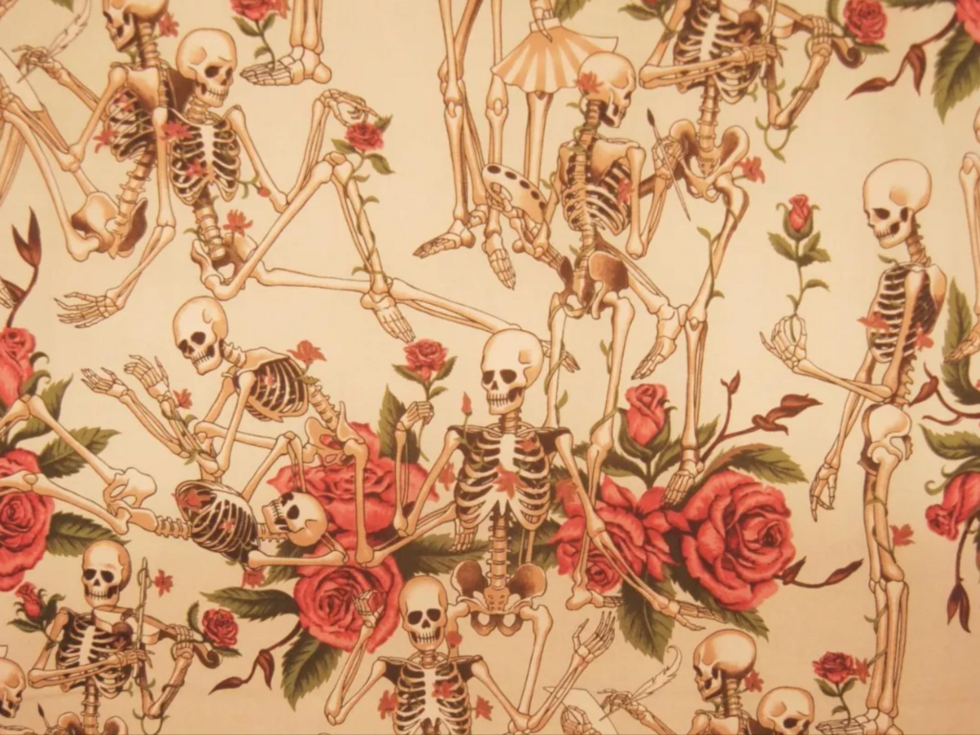 Grateful Dead Day of the Dead Dia De Los Muertos Skeleton Quilting ...