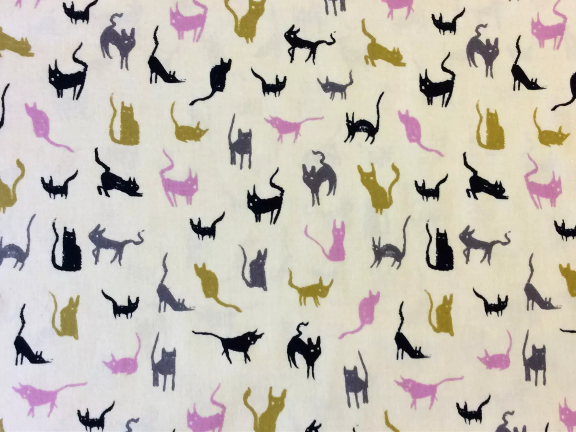 COTTON + STEEL Cats and Kittens Kitties Kitty Pet Home Animal Cute Cotton Quilting Fabric CTN55