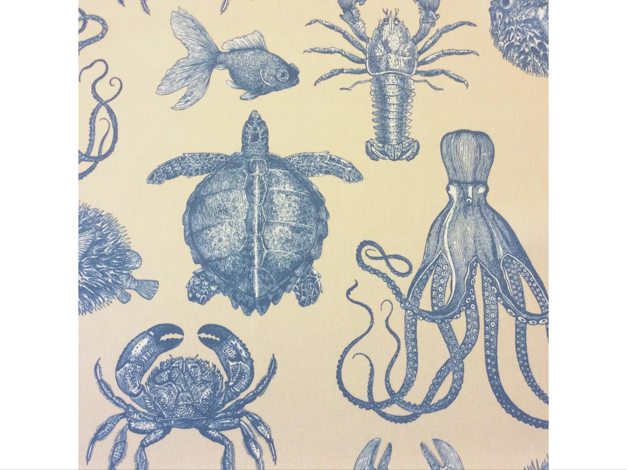 Thomas Paul Sea Life Adriatic Sand Ocean Indoor Outdoor Acrylic Fabric SD104D