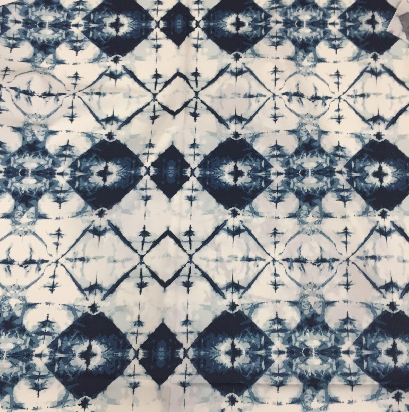 Observer April Rhodes Retro Ink Blot Indigo Tie Dye Cotton Quilt Fabric AR47