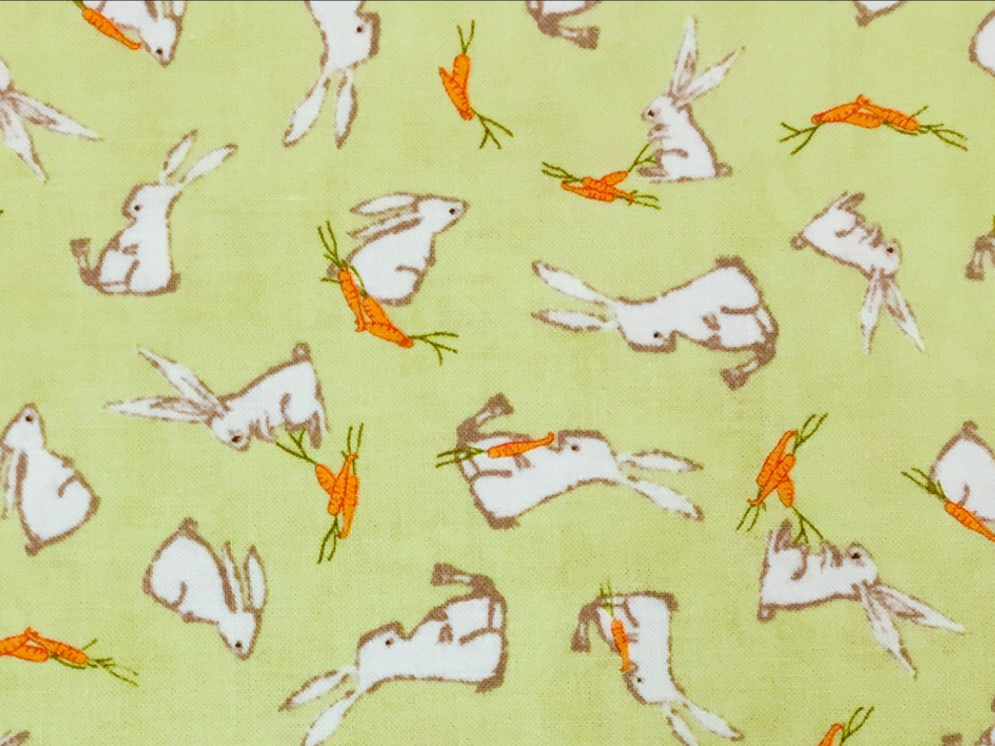 Farm And Forest  MODA Cute Retro Bunny Rabbits Bunnies Carrots Easter Cotton Quilt Fabric MO105