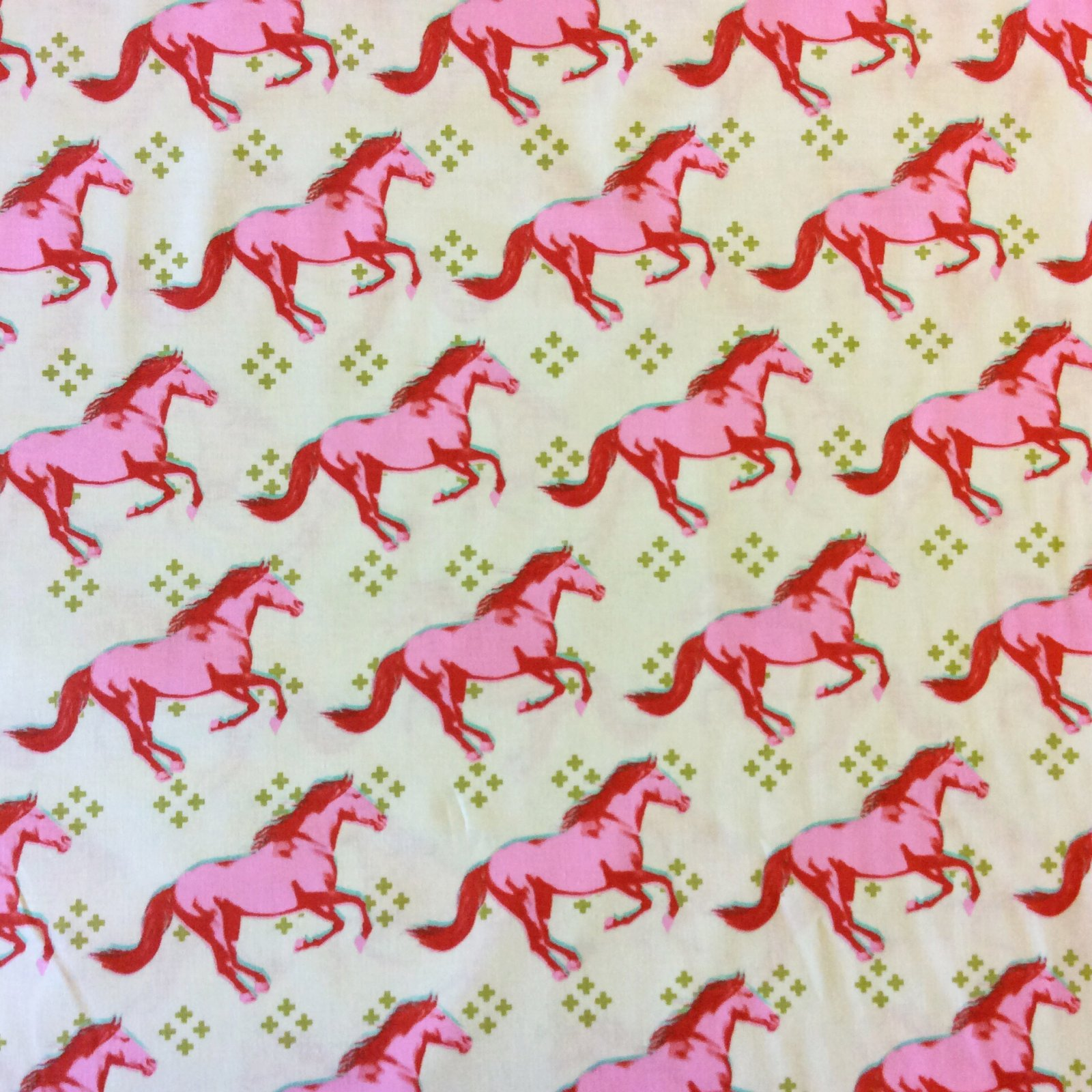COTTON + STEEL MUSTANG Wild Horses Pony Stallion Equestrian Cotton Quilting Fabric CTN53