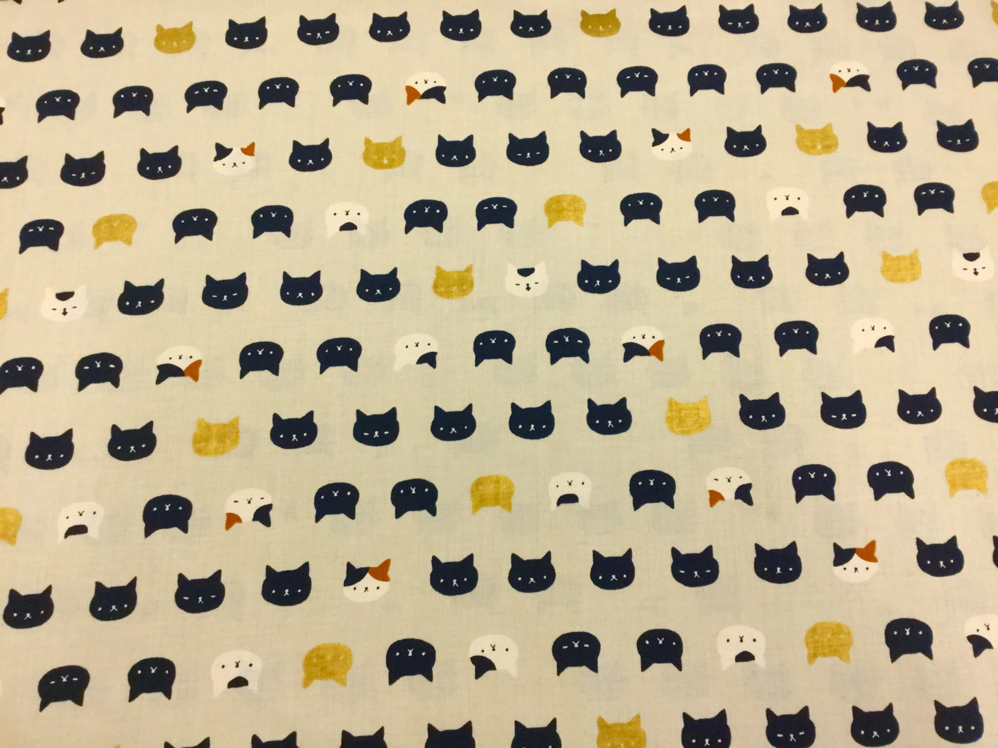 Kitty Cat Kitten Neko Japanese Asian Retro Cotton Quilt Fabric NT35