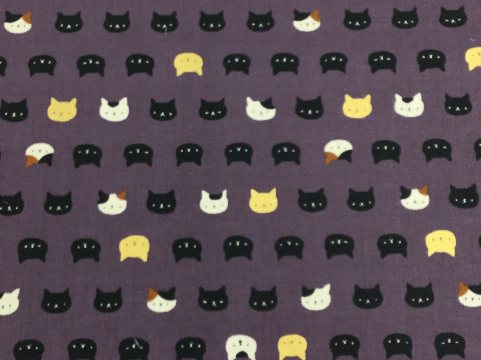 Neko Kitty Cat Kitten Japanese Asian Retro Cotton Quilt Fabric NT34