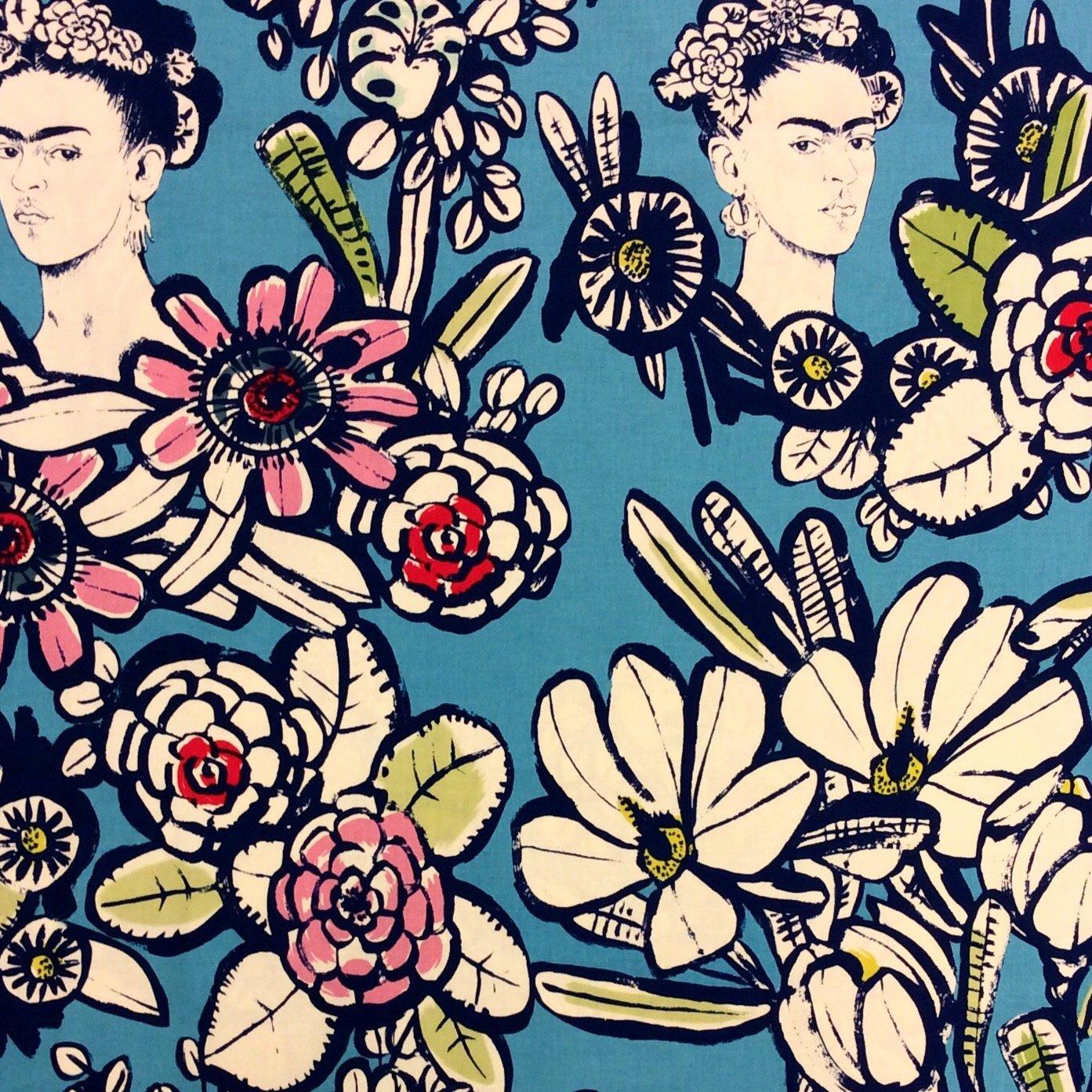 Frida Kahlo Mexico Latin Art Cotton Quilt Fabric AH190
