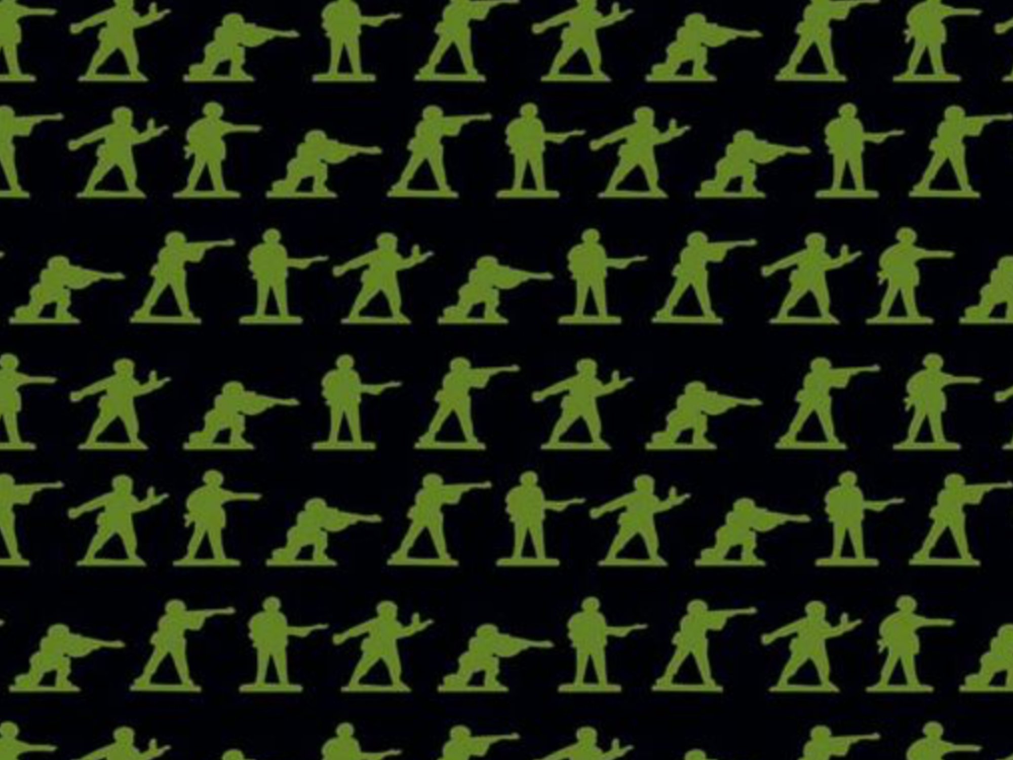 Toy Soldier Green Army Men War Plastic Battle Guns Cotton Quilt Fabric RB74