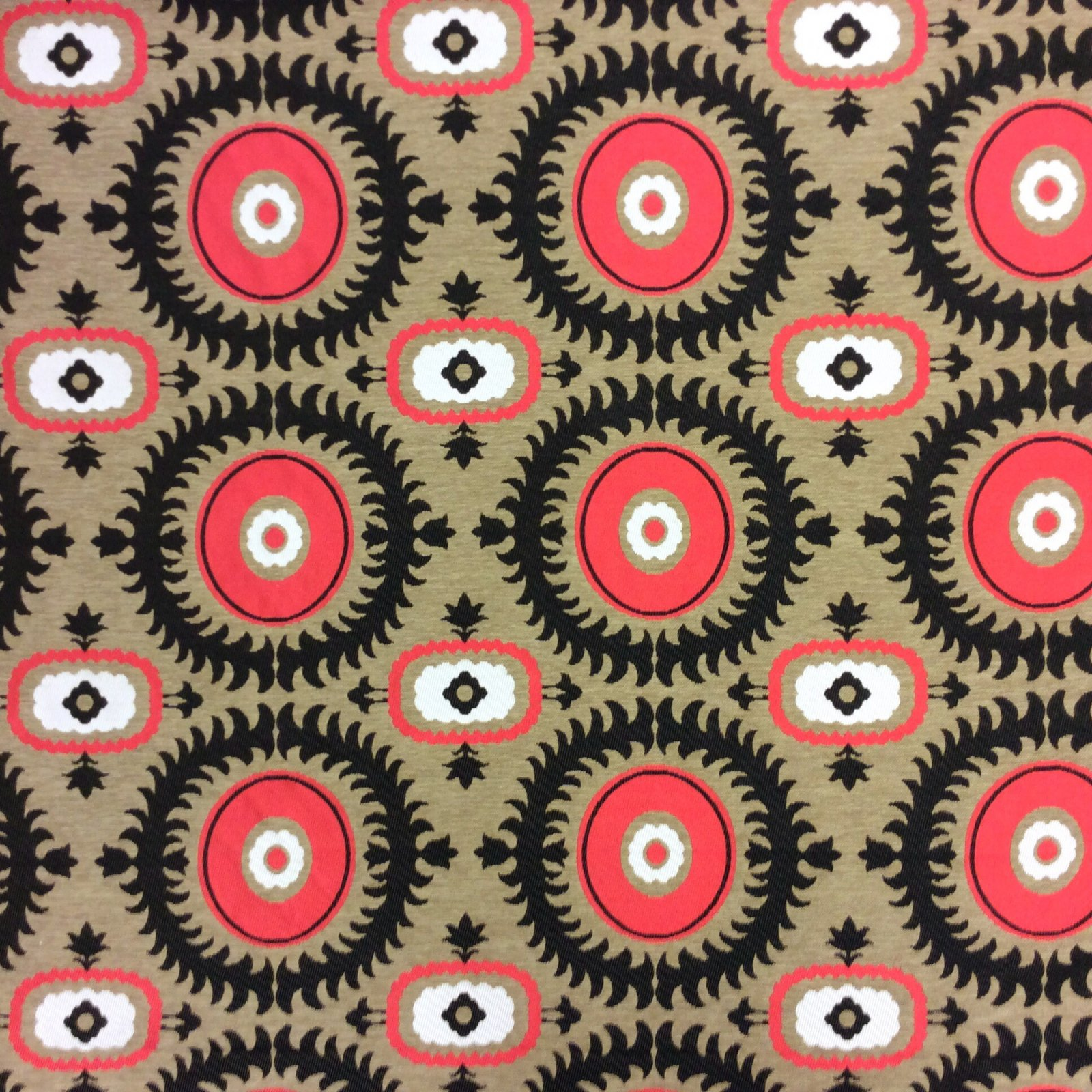 Suzani Magical Medallion Tapestry Woven Cotton Upholstery Fabric 411FG