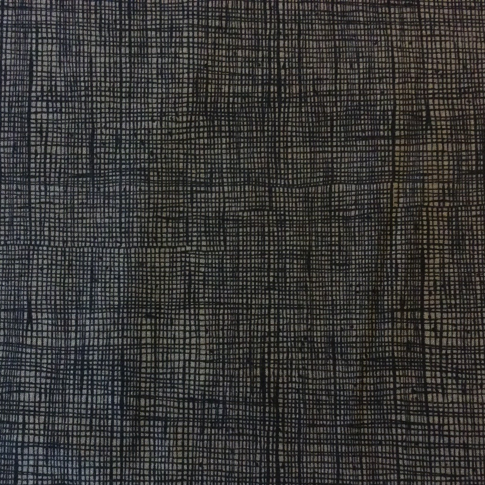Crosshatch Grey Heath Alexander Henry  Geo Grid Cotton Quilt Fabric AH173