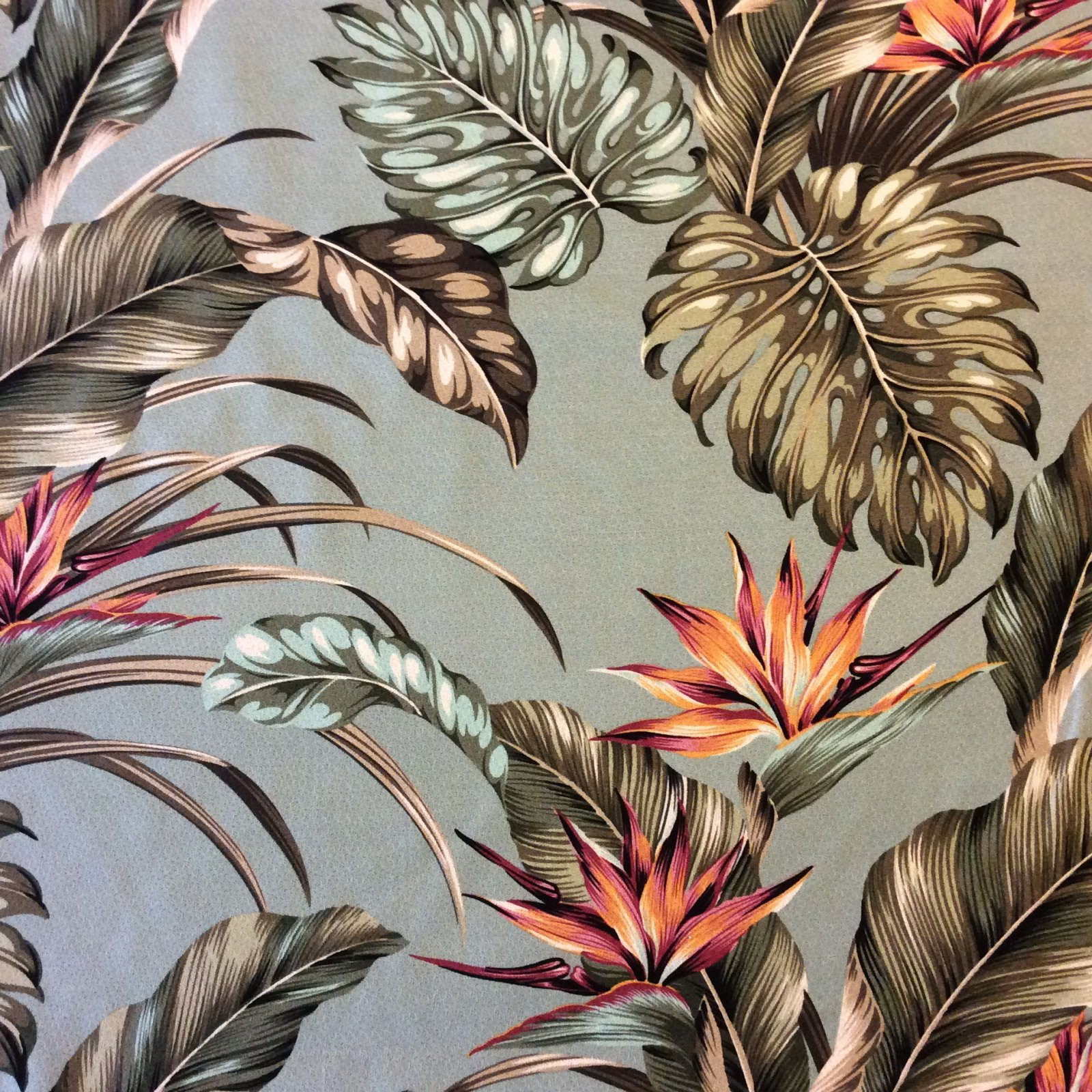 COMING SOON 2017 Atomic Barkcloth Style Palm Flower Tropical Tiki Bar Luau Cotton Dobby Fabric Surf Style Lanai HTP021