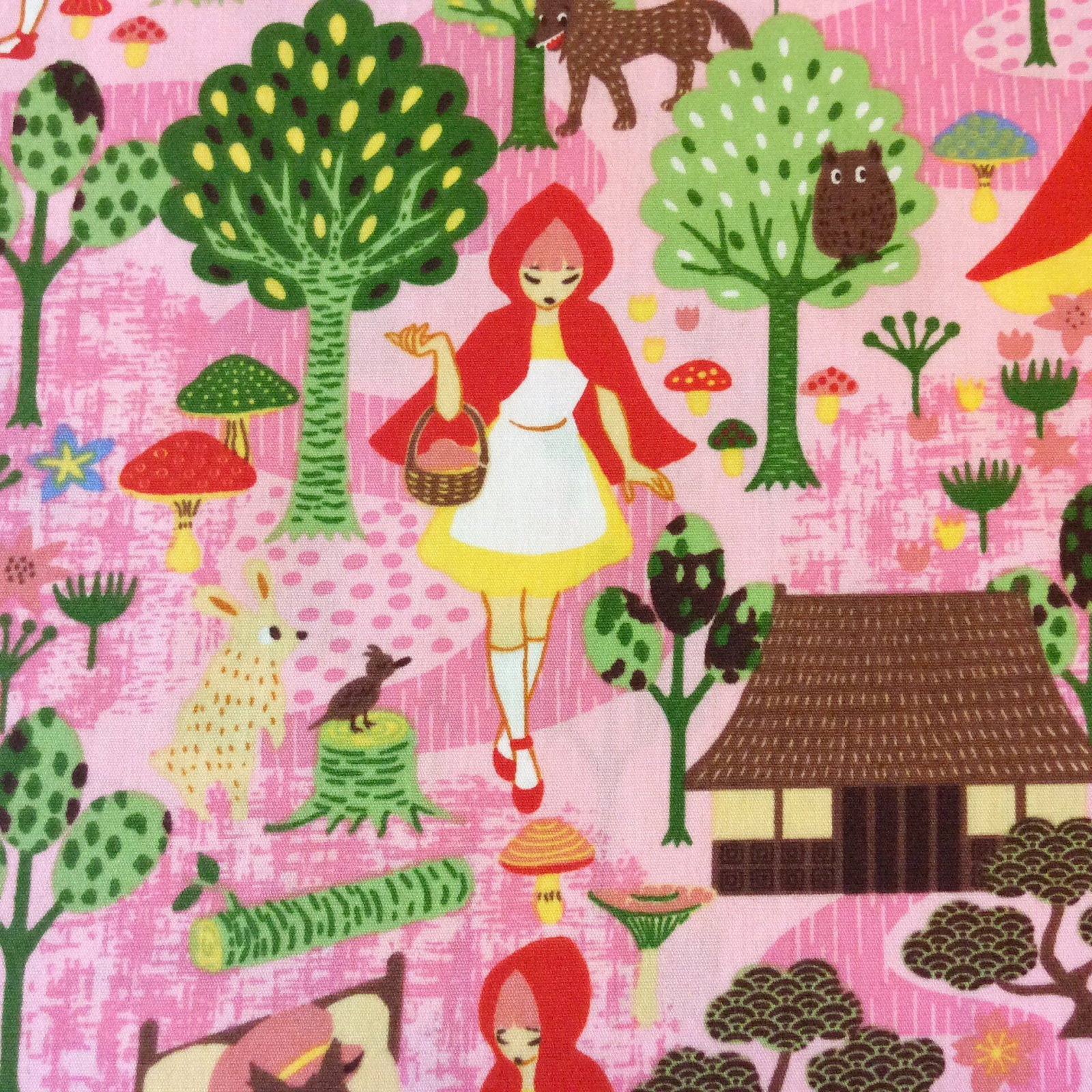 Cosplay Red Riding Hood Fantasy Japan Japanese Asian Forest Tale Cotton Quilt Fabric TP025