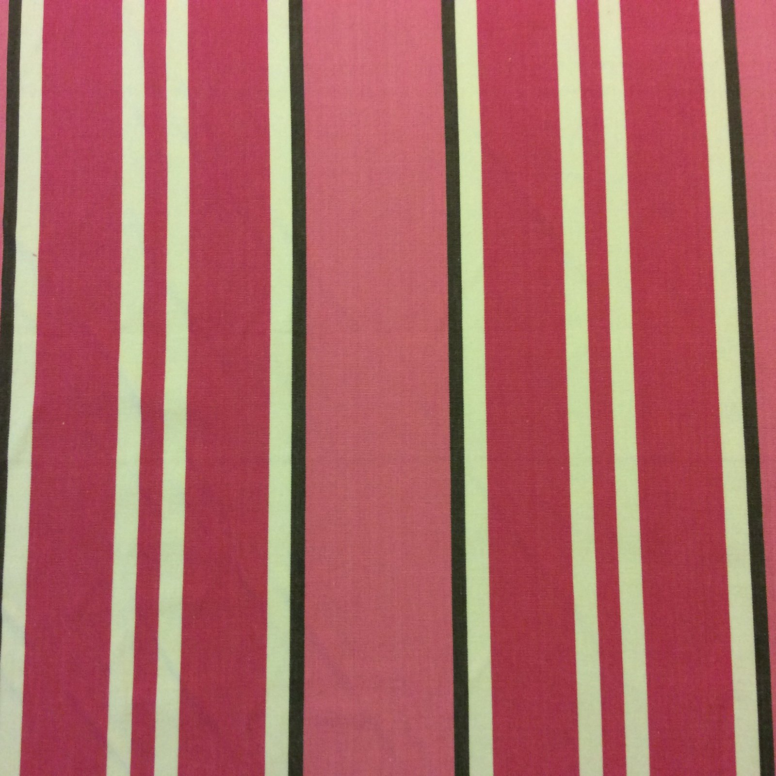 Candy Stripe Pink Heavy Cotton Home Dec Drapery Fabric OR102