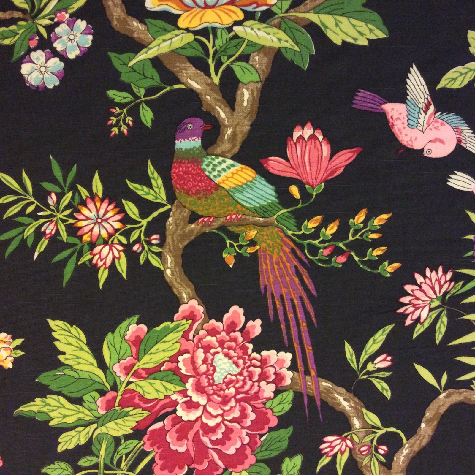 Rich And Breathtaking Parrot Linen Weave Texture Tropical