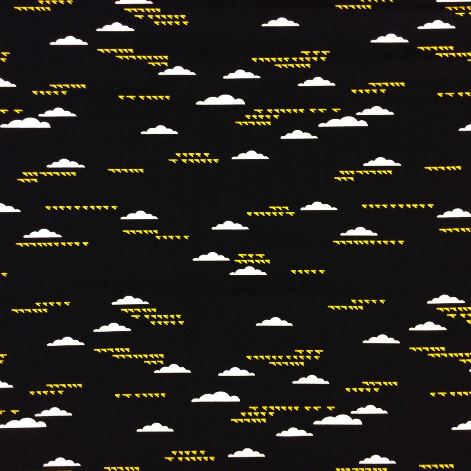 Charley Harper Clouds & Birds Fly Sky Bird Organic Cotton Quilt Fabric Fabric CHB41