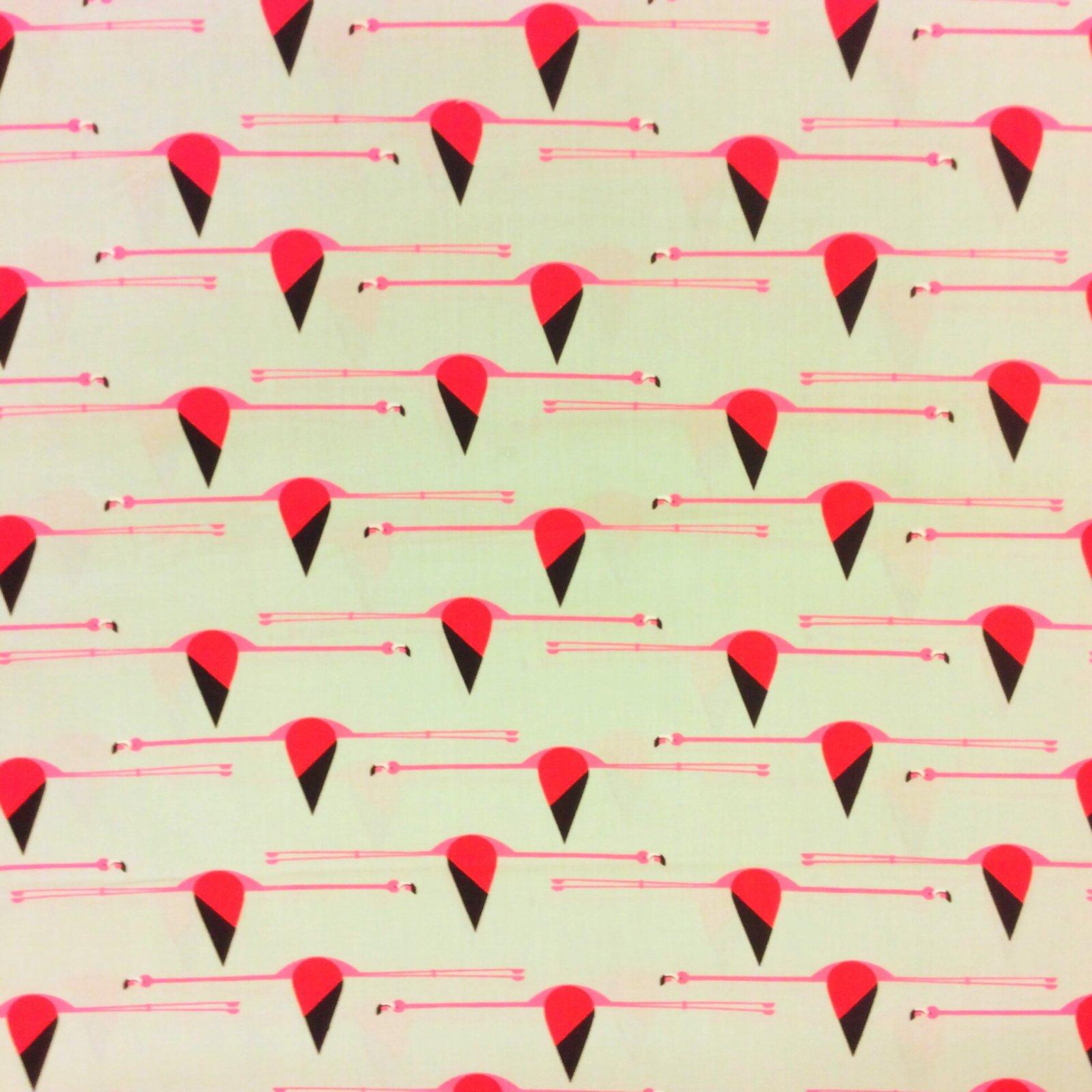 Charley Harper Flamingo Fantasy Bird Flight Pink 50's Cotton Fabric CHB51