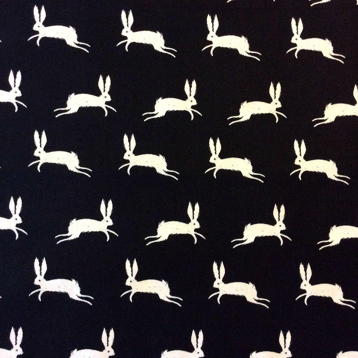 Last Piece! 13 x 44 Sarah Watts Cotton + Steel Rabbits Jumping Bunny Cotton Quilt Fabric PCCTN33