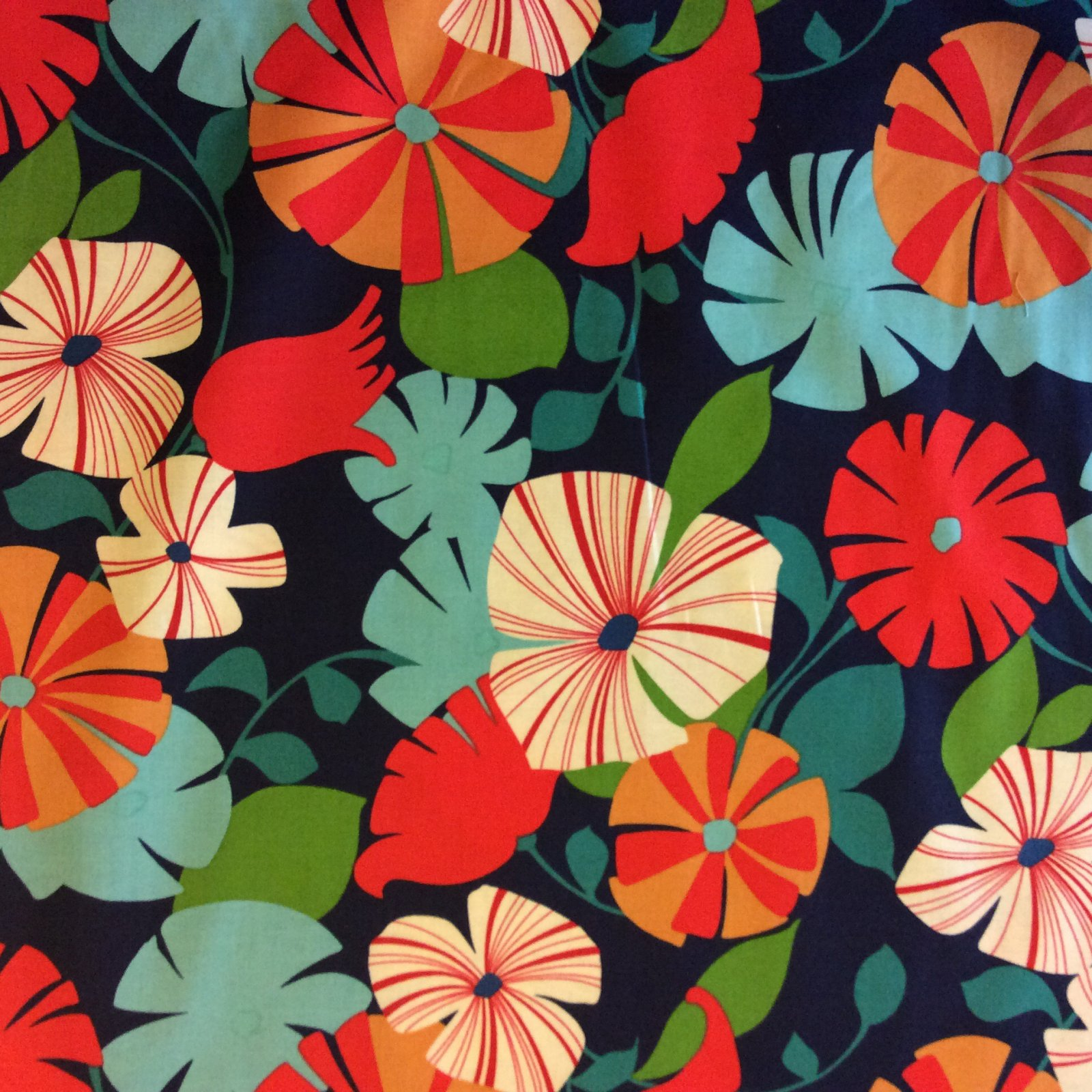 Hawaiian Floral Cotton Quilt Fabric AH174