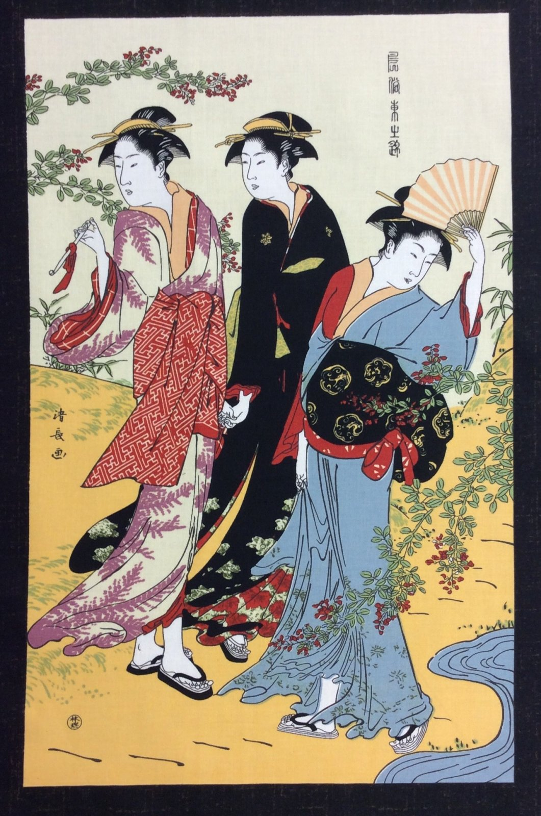 Kona Bay Geisha Portraits Japanese Asian Kona Bay Kabuki Theater Geisha PANEL Cotton Quilt Fabric KB17