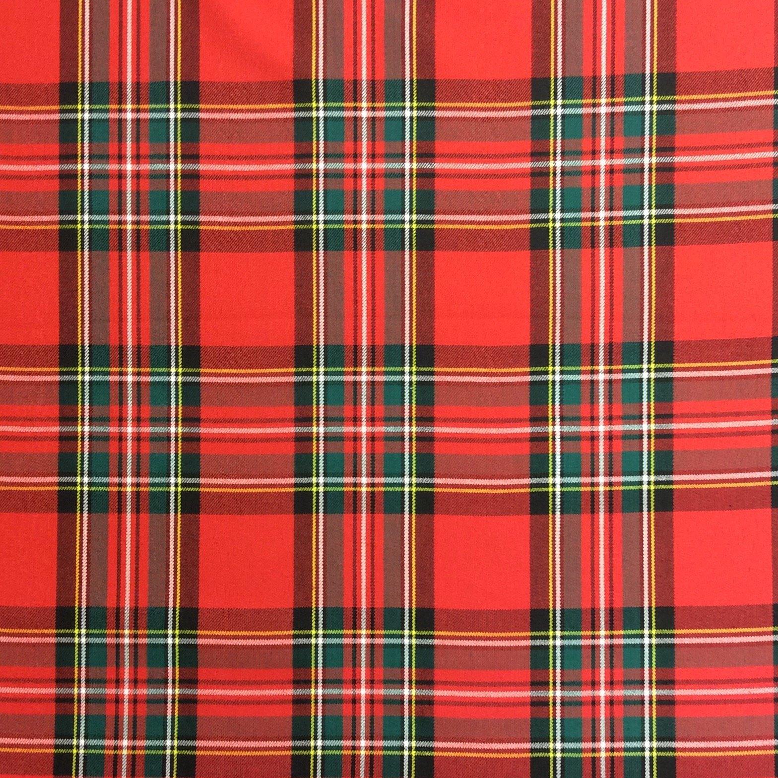 CV109   Tartan Plaid Cotton Fabric upholstery