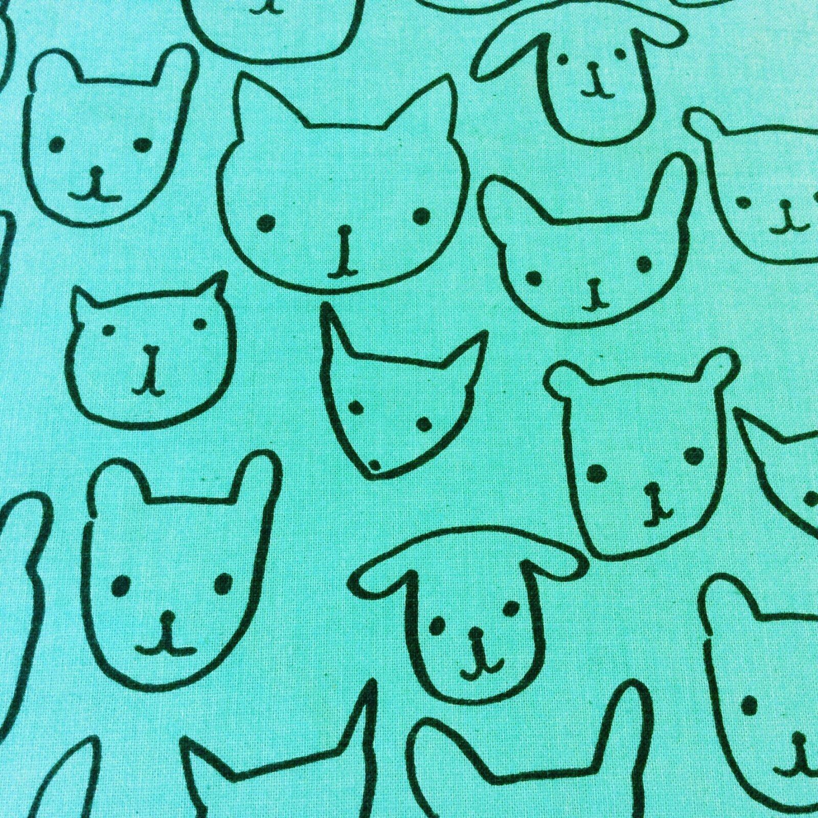 CTN65 Cotton + Steel Pets Dog Cat Bear Fox Animal Cute Woods Cotton Quilt Fabric