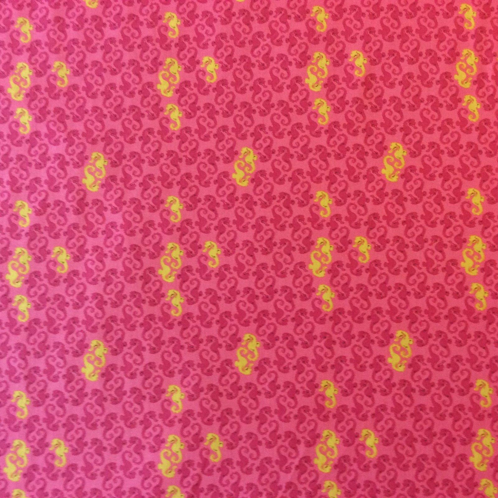 Heather Ross Medocino Sea Life Seahorse Fish Ocean Cotton Quilt Fabric Wi76
