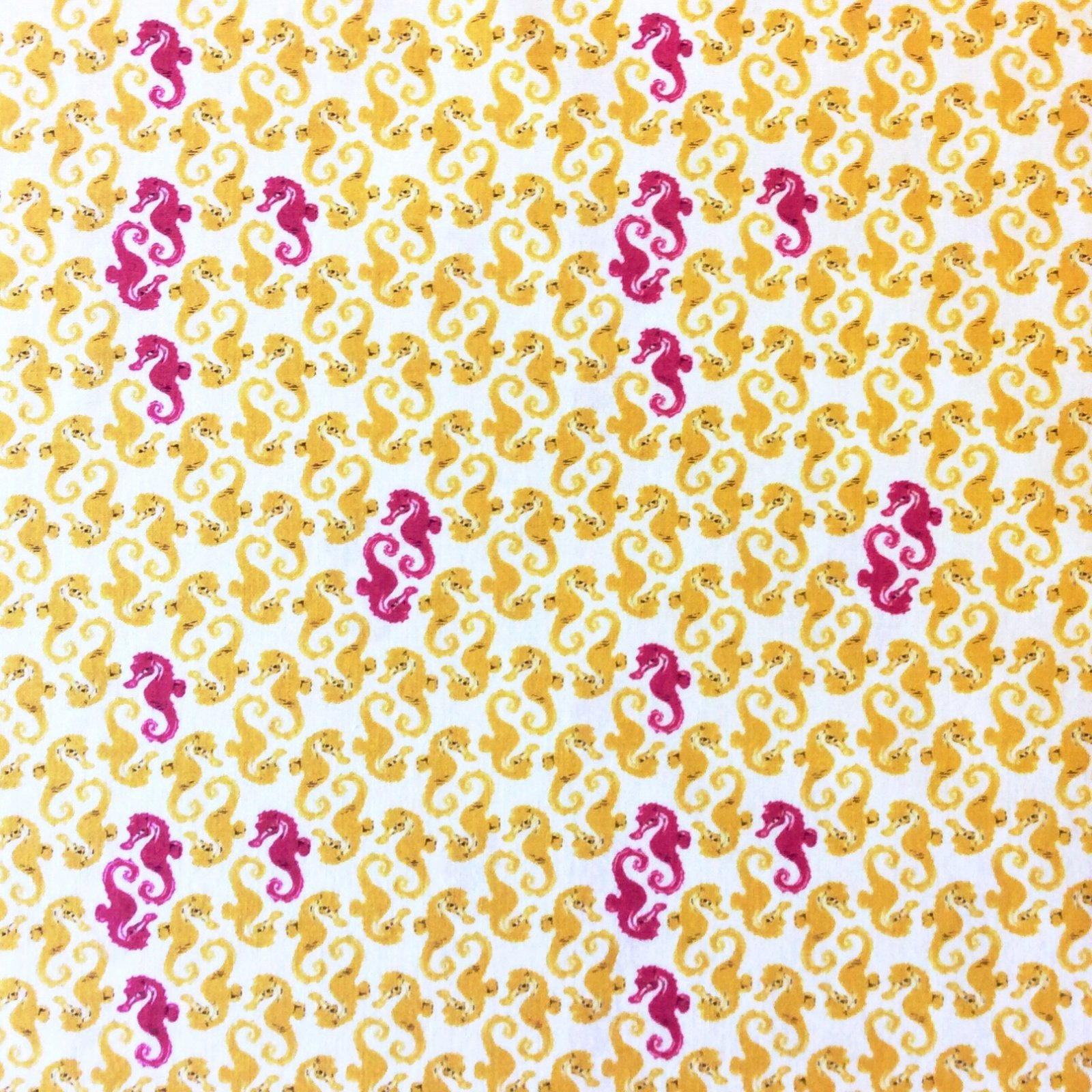 Heather Ross Mendocino Sea Life Seahorse Fish Ocean Cotton Quilt Fabric Wi72