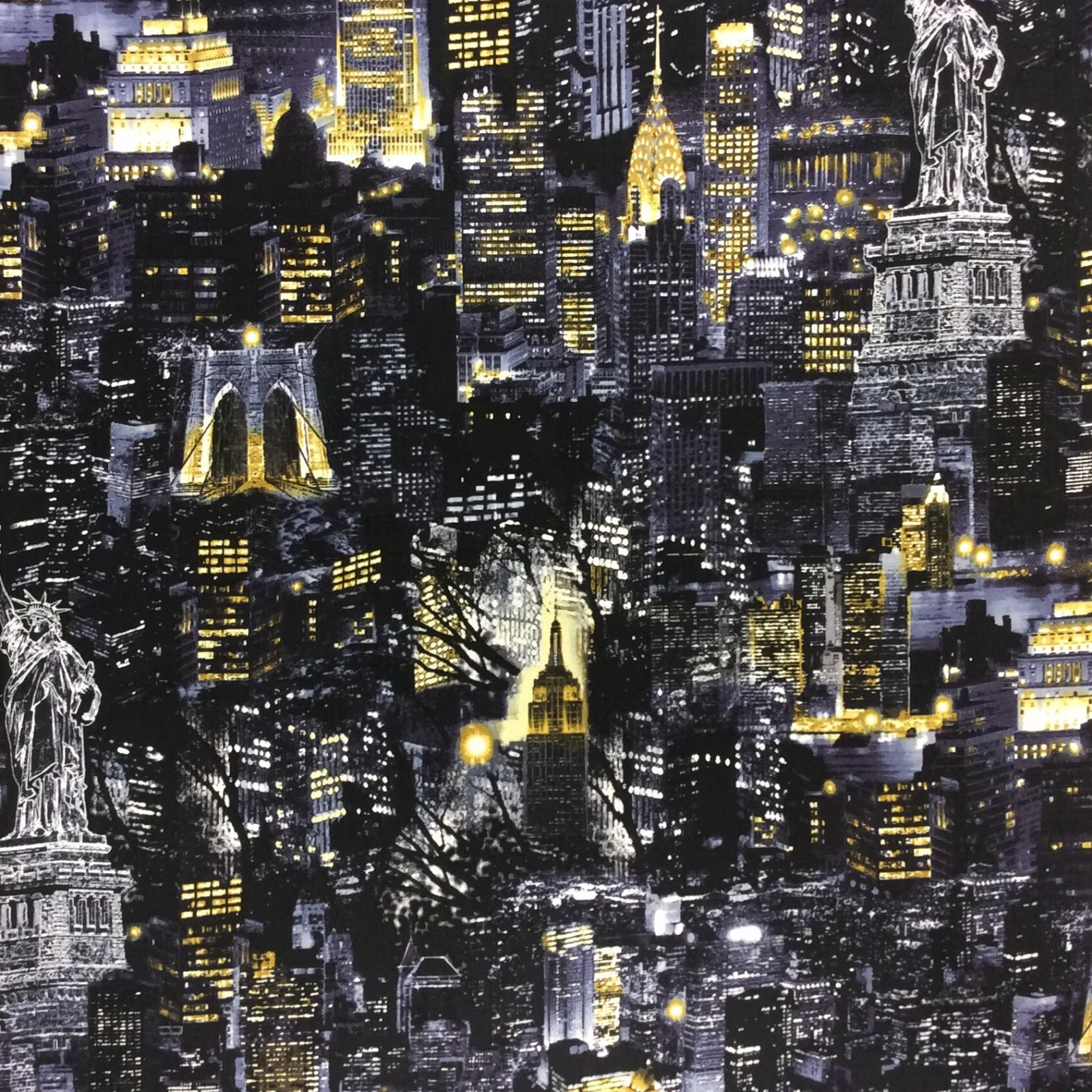 be21 New York New York City Cotton Quilt Fabric BE21 : new york city quilt - Adamdwight.com