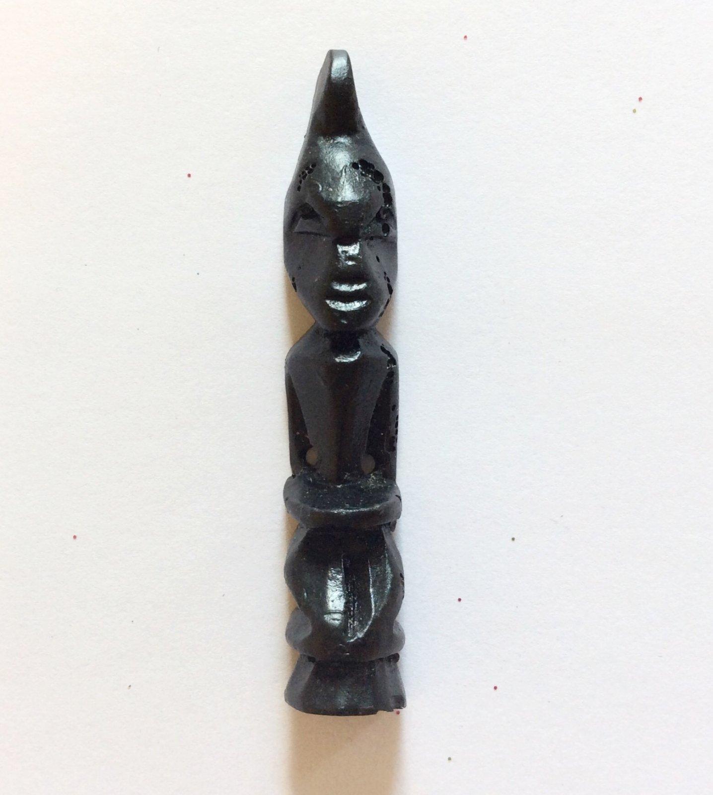 African Idol Sewing Button African Folk Art