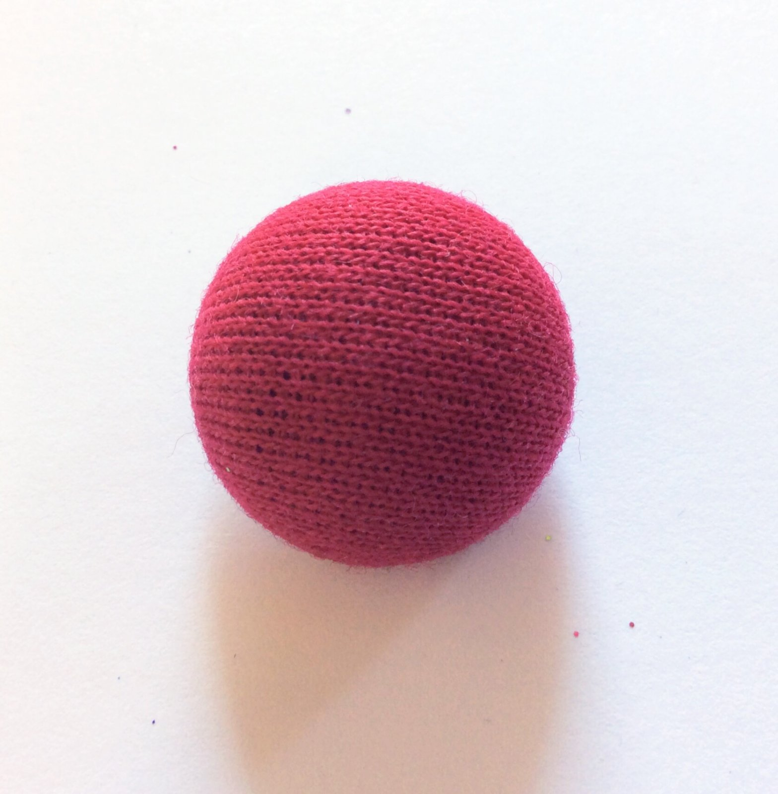 Vintage High Dome Half Ball Fabric Passimenteries Linen Sewing Button P