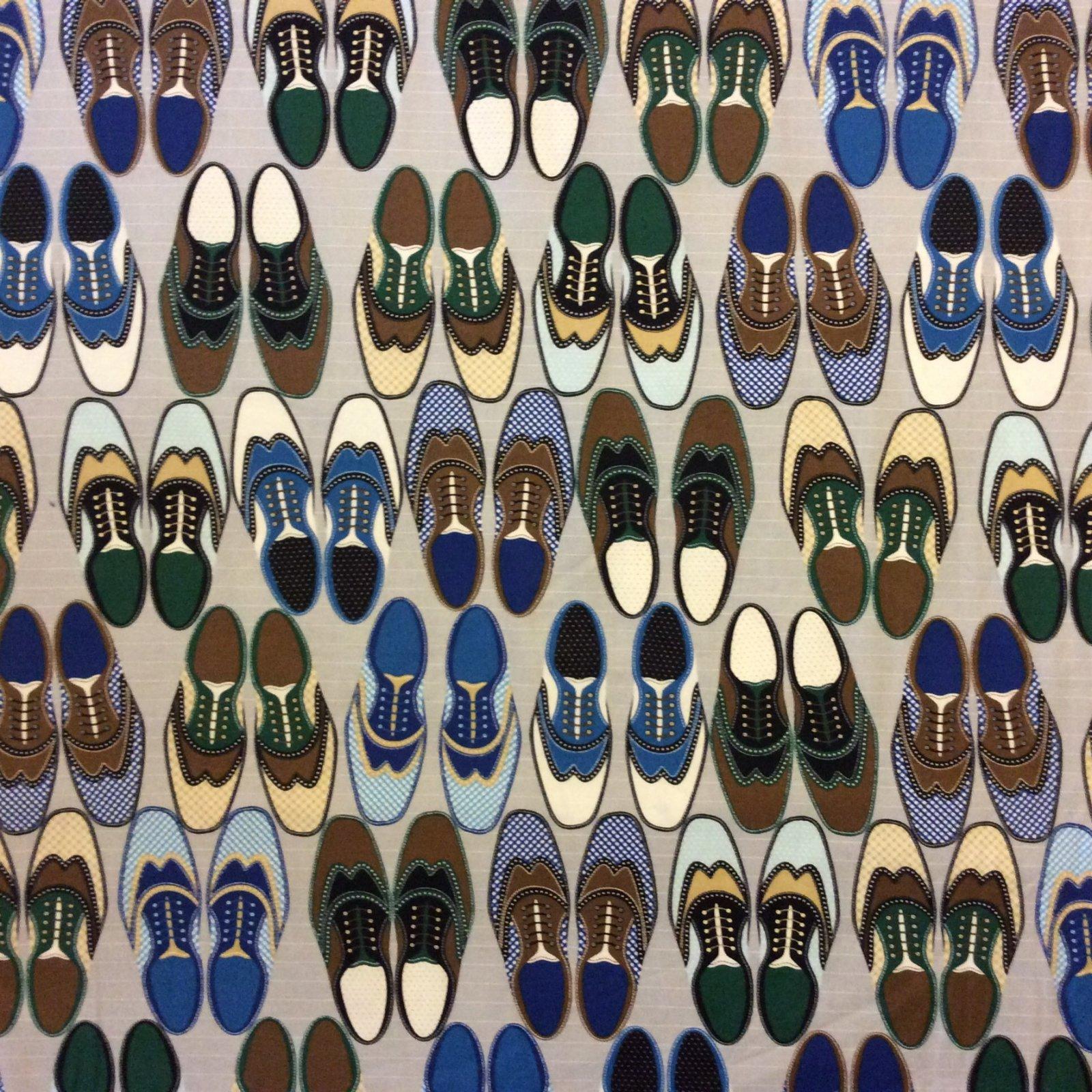 Oxfords Shoes! Cotton Quilt Fabric TT13