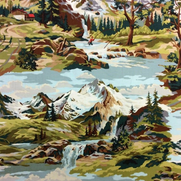 Paint by Number Up on the Mountain Moda Cotton Quilt Fabric MO80